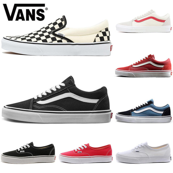 Acquista Vans Scarpe Originali Old Skool Classic Casual Uomo Donna Fear Of God Skate Plate Forme Canvas Skateboard Platform Mens Sneakers Sport