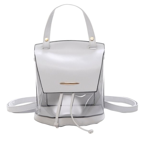 Backpackwomen Ladies Transparent Handbag Totes/Shoulder/Backpacks Casual/Bags