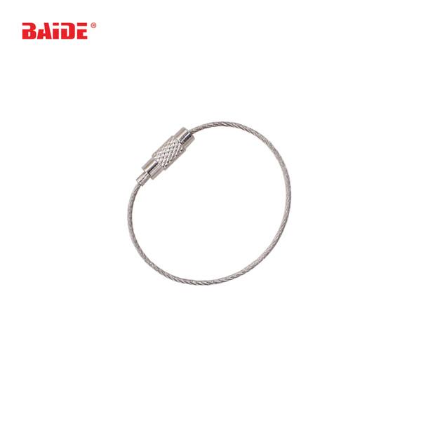 Câble en acier inoxydable chaîne porte-clés câble mousqueton porte-clés porte-clés en plein air randonnée