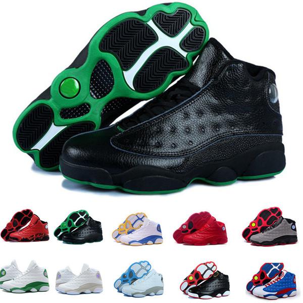Бесплатная доставка 13 11 12 4 5 6 Дешевые Баскетбольные кроссовки Мужчины Женщины Fear Цемент Oreo Black Cat Sneaker Спортивная обувь для онлайн продажи Размер 40-47
