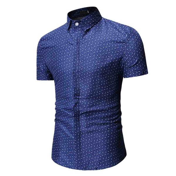 2019 Men Casual Short Sleeved Solid shirt Slim Fit Male Social Business Dress Shirt Brand Men Clothing Soft Comfortable Apr11