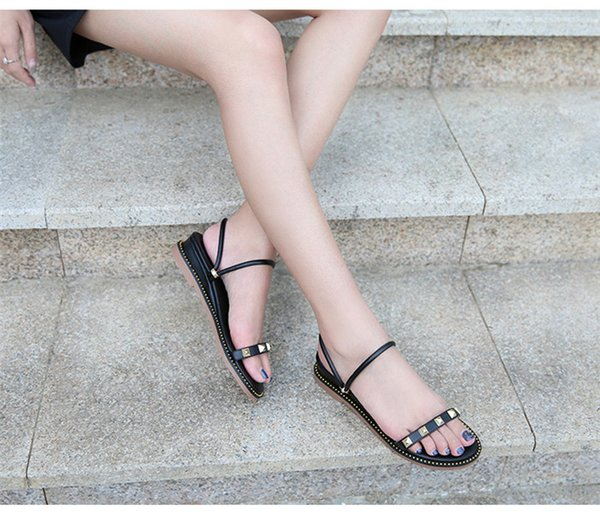 2019 ladies sandals designers Sandals design slides woman slippers High quality gladiator sandals Leather woman slippers with the box
