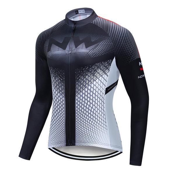 Quick Dry Ciclismo Jersey manga comprida Spring Summer respirável 2019 Corrida shirt do desgaste de bicicleta de Homens NW Tops Ciclismo Clothings