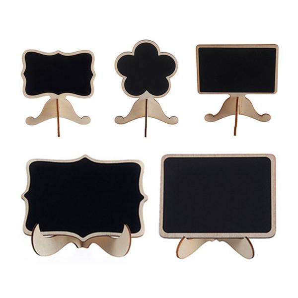 10pcs legno Mini Lavagna lavagna segno del messaggio decorazione della festa nuziale matrimonio rifornimenti di favore di partito