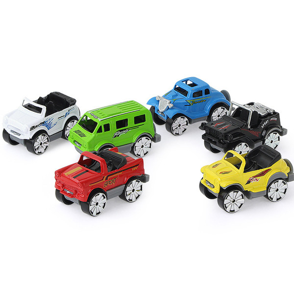 6Pcs/set 1:64 Simulation Alloy Inertia Engineering Vehicles Kids Excavator Model Car Intelligence Educational Model