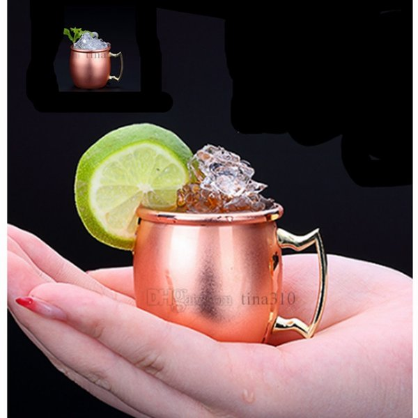 Hot Moscow mini glass 98ml stainless steel cocktail cup Moscow mule cup mini wine beer ancients copper cup T2I5054