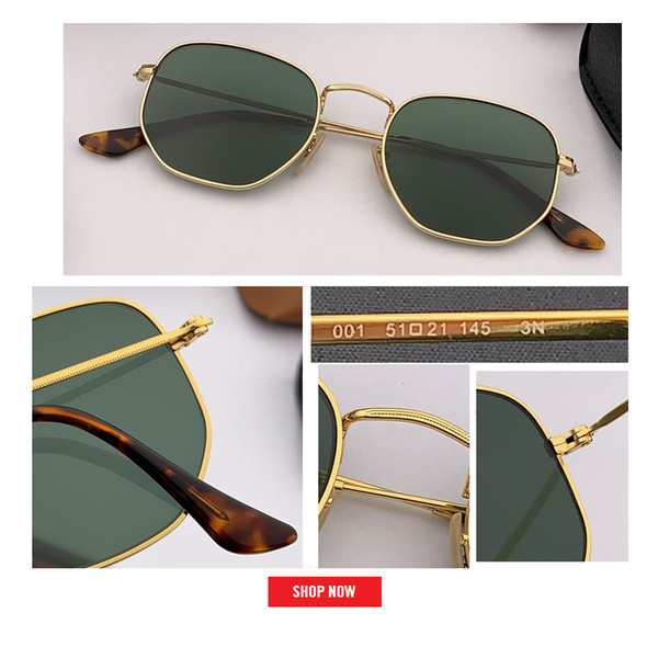 top popular Hot top sale new Fashion Classic Hexagonal Sunglasses Women Brand Designer gradient square Shades Men Driving Sun Glasses Unisex UV400 gafas 2021