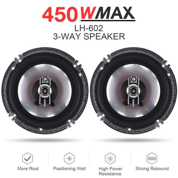 2 stücke 6 Zoll 450 Watt 3 Way Hifi Auto Koaxial Lautsprecher Auto Audio Musik Stereo Full Range Frequenz Lautsprecher