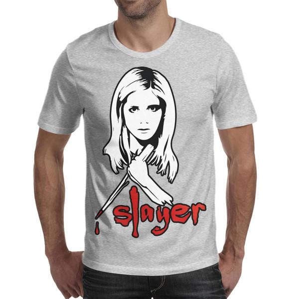 Men design printing Buffy the Vampire Slayer grey t shirt printing funny graphic crazy champion shirts awesome t shirt sport humorous be