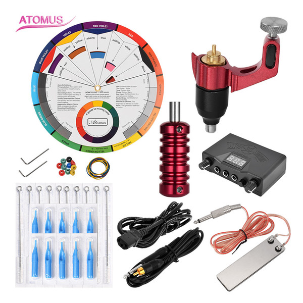 Liner Shader Beginner Pro Rotary Tattoo Machine Shader Liner Complete Professional Kit Pen Cartridge Rotary Tattoo Machine Kit