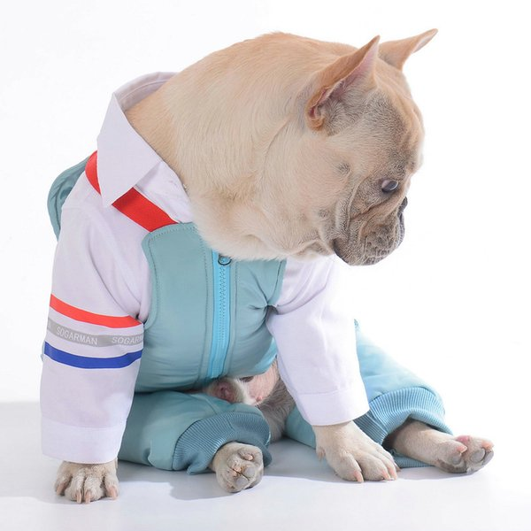 Dog Clothes Winter Formal Dog Suit Wedding Pet Dogs Costume Two-piece Suit Clothing For Dogs Jacket Winter French Bulldog Coat Wholesale