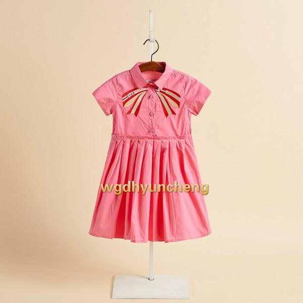 2019 última versión grande de desgaste de niños vestido de verano clásico gran niño princesa vestido de solapa vestido de la rebeca