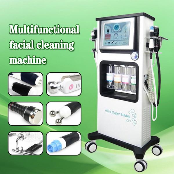 Envío gratis 7 en 1 Super Bubble Anti envejecimiento Rejuvenecimiento facial BIO RF Apriete de la piel Oxígeno Spray Hydro Dermabrasion Machine