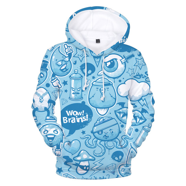 New 3D Printed Graffiti Style Hoodies Men Sweatshirts Women 2018 Hip Hop Hooded 3D Graffiti Hoodie Sweatshirt Mens Clothes