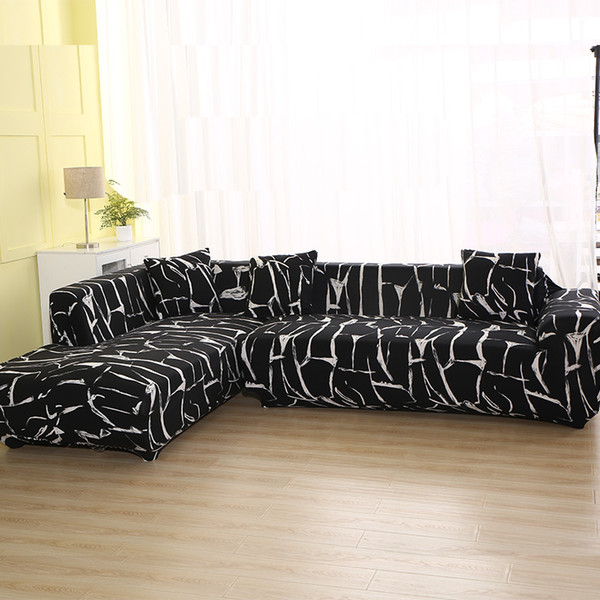 Geometric Pattern / Sofa Cover For L Shaped Sectional Sofa Couch Cover  Towel Covers For Living Room Slipcovers Dining Chairs Couch Covers For ...