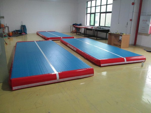 Free Shipping 7x1x0.2m Blue Inflatable Gymnastics Airtrack Floor Tumbling Air Track For Kids Free One Pump