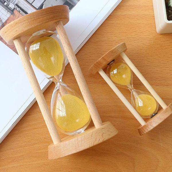 5/10/15/30 Minutes Glass Hourglass Wood Frame Wooden Frame Sandglass Home Kitchen Timer Clock Decor Home Ornaments