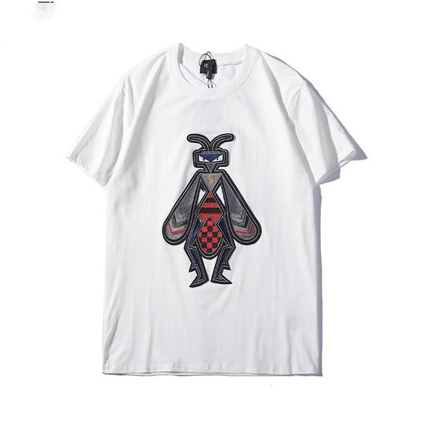 Erkek Kadın Tasarımcı T Shirt Çift Hayvan Embroide T Gömlek Erkek Marka Kısa Kollu Üstleri Tee Lüks Yüksek Kalite Erkekler Giyim Boyutu S-2XL