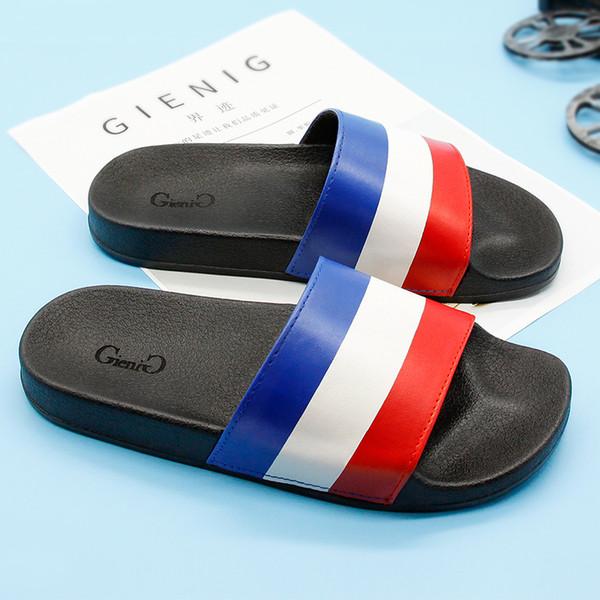 GieniG 2018 Zapatos de estilo femenino una palabra que arrastra zapatillas interiores antideslizantes interiores baño zapatillas resistentes al desgaste