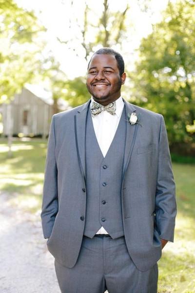 Новый пользовательский серый мужские костюмы для свадьбы лето жених костюм Slim Fit жених смокинги мужской классический костюм лучший человек Blazer партии 3 шт. выпускного вечера 5