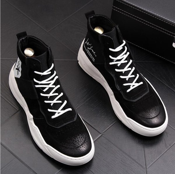 Version coréenne de la chaussure montante pour femmes
