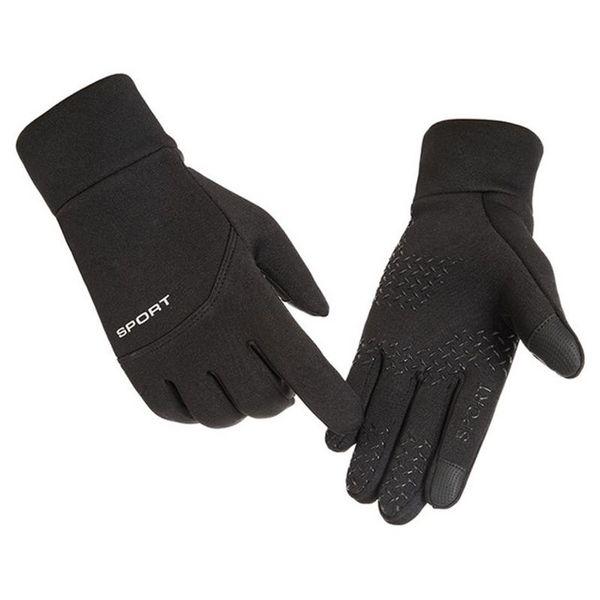 Winter Sports Outdoor Warm Gloves Unisex Cycling Football Skid Windproof Waterproof Touch Screen Fleece Gloves