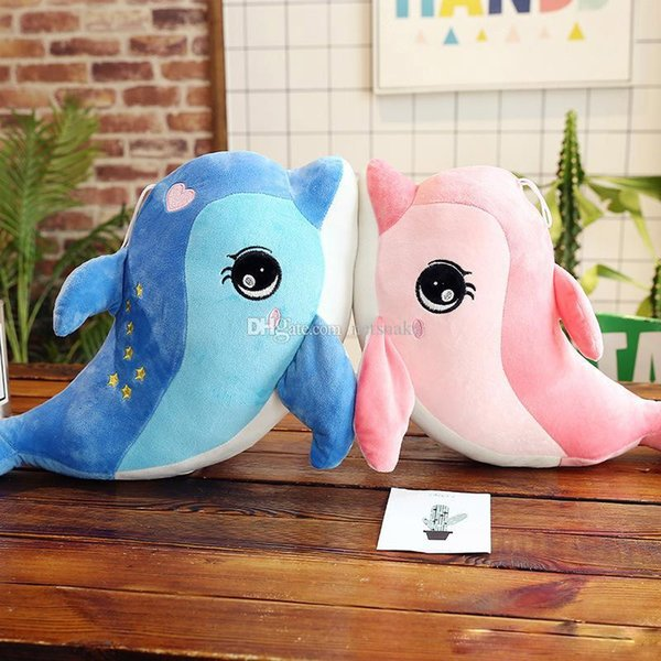 Lovely Mini Cute Dolphin Charms stuffed animals Kids Plush Toys Home Party Pendant squishy christmas Gift Decorations