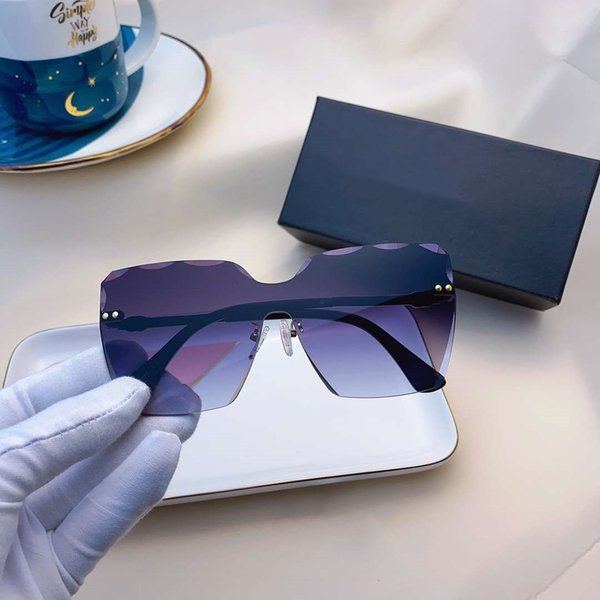 best selling Womens Sunglasses Summer Beach Goggle Sunglasses Beach Woman Oversize Glasses UV400 050802 5 Color Highly Quality with Box
