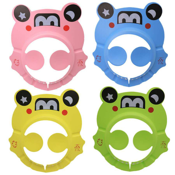 best selling Children's cartoon bath ear shampoo cap baby baby shampoo cap EVA adjustable shampoo cap