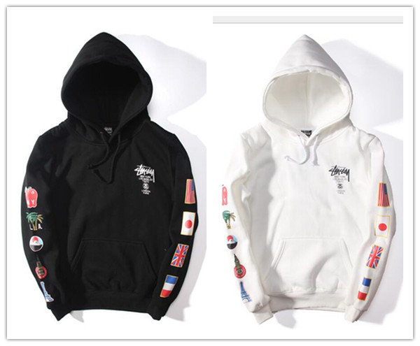 Flags Printed World Tour Hoodies For Mens Hip Hop Pullover Hooded Sweatshirts Harajuku Swag Style Tops Long Sleeve Autumn Men Clothing