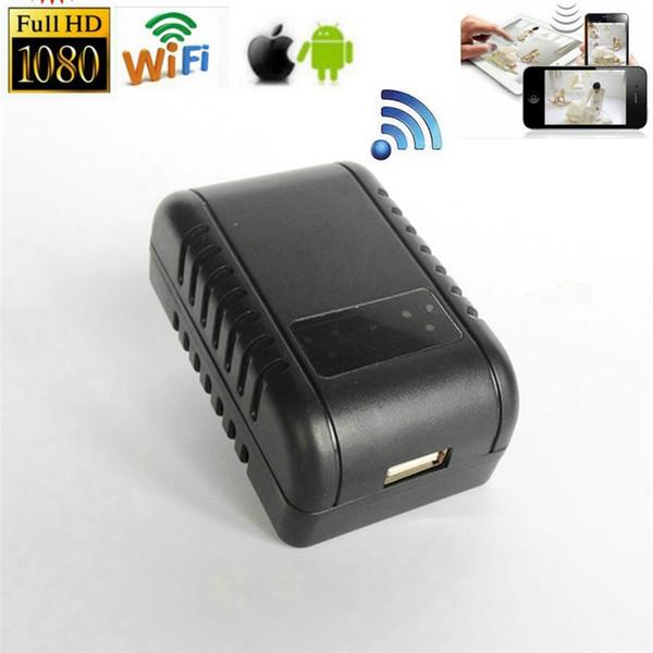 Mini HD 1080 P WIFI DVR Wireless Netzwerkkamera Adapter Stecker IR Nachtsicht Videorecorder Überwachungskamera Kindermädchen Cam für Android IOS Ansicht