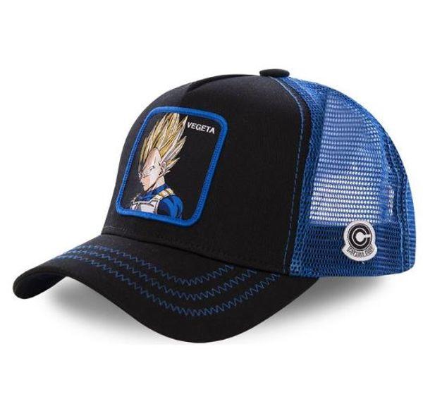 New Dragon Ball Mesh Hat Аниме Majin Buu Роли Бейсболка Высокое качество Изогнутая кепка Snapback Бейсболка Gorras Casquette Дропшиппинг