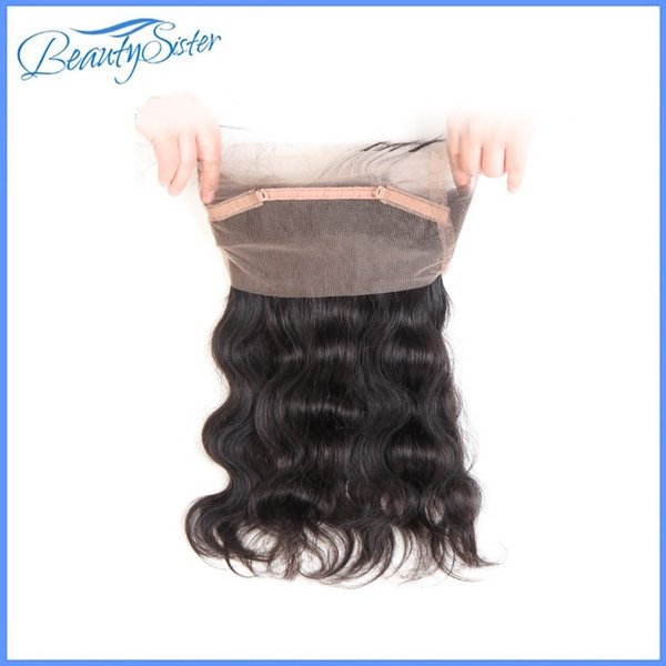beautysister hair 10a brazilian virgin human 360 lace frontal 100% natural unprocessed remy hair natural color baby hair