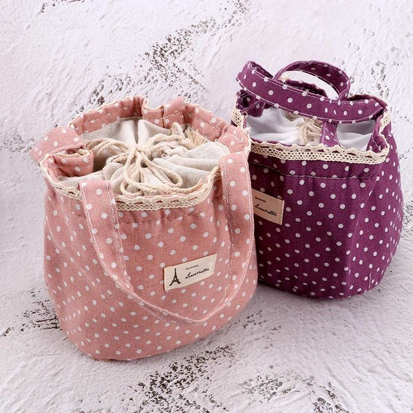 Convenient Tote Portable Thermal Insulated Picnic Lunch Box Bag Cooler Bento Picnic Pouch Storage Bag