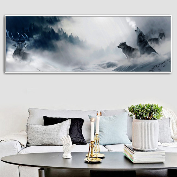 2019 Large Wall Art Canvas Painting Animal Wolf Picture Painting Home  Living Room Wall Decor Poster No Frame From World_view, $11.08 | DHgate.Com