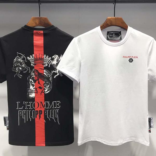 2019 nueva selección del verano durante manga corta camiseta de la camiseta de la nueva ropa de los hombres de media manga de los hombres de algodón de color sólido de los hombres de cuello