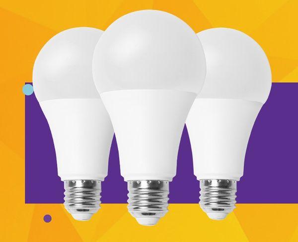 LED Bulbs E27 B22 3W~18W 2835 High-high Light Chip Indoor Energy-saving Light Plastic-coated Aluminum Lighting Bulbs Constant Current Drive