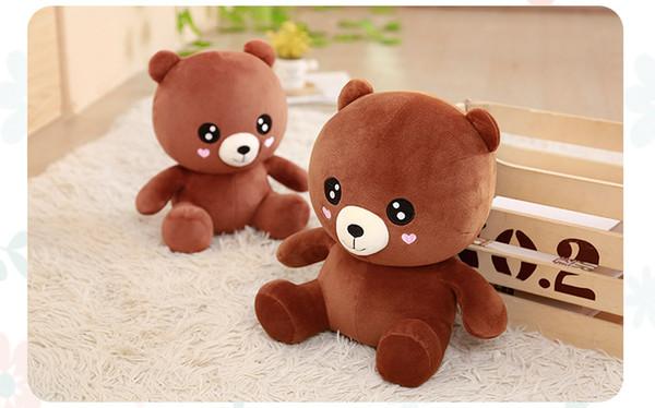 3 Size Brown Plush Bear Cute Baby Bear Plush Toy Confession Doll Panda Doll Love Brown Bear Doll Gift Girl Festival Prensents