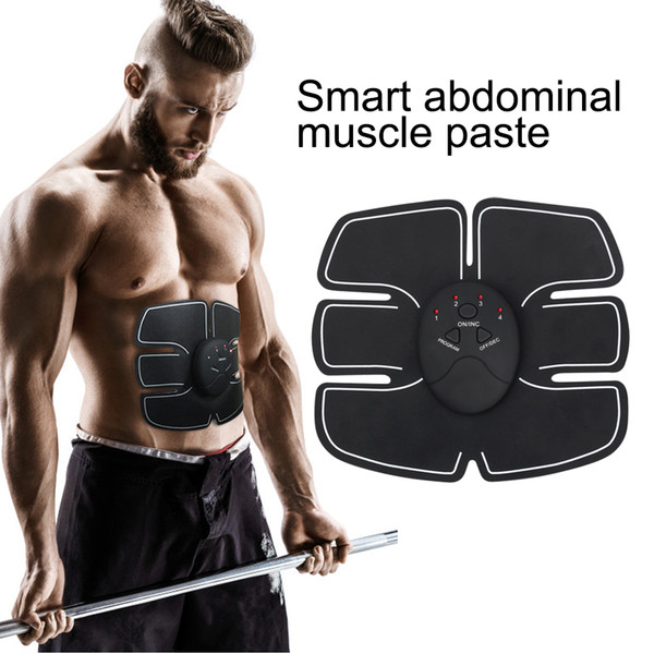 top popular Fast Ship Muscle Stimulator EMS Slimming Machine 8 Belly Pastes Wireless Stimulation Weight Loss Train Gear Toning Beauty Fitness Equipment 2020