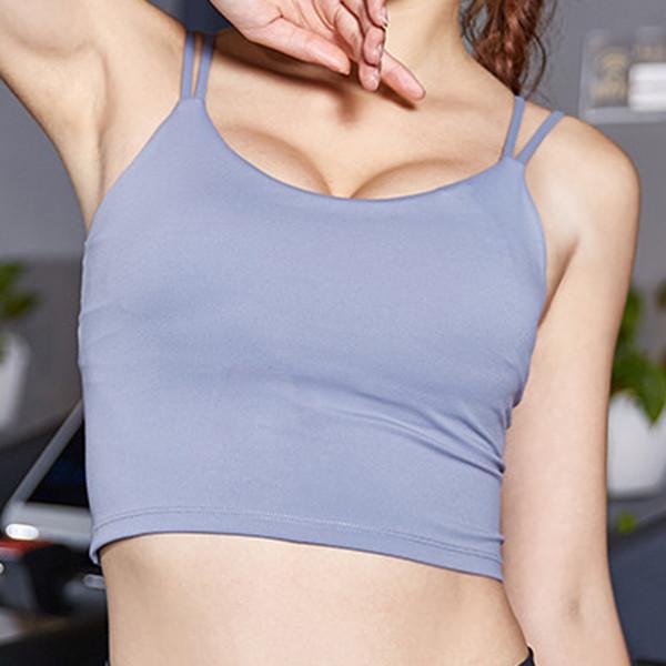BINAND Seksi Çapraz Omuz Şerit Backless Spor Tank Top Kadınlar Kuru Fit Nefes Yumuşak Yüksek Elastik Slim Fit Egzersiz Spor Yelek