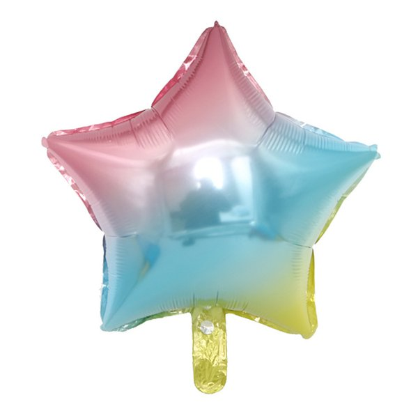 18 inch Wedding Rainbow Star Foil Balloons Gender Reveal Baby Shower Girl Princess Party Supplies Helium Globos Balloons