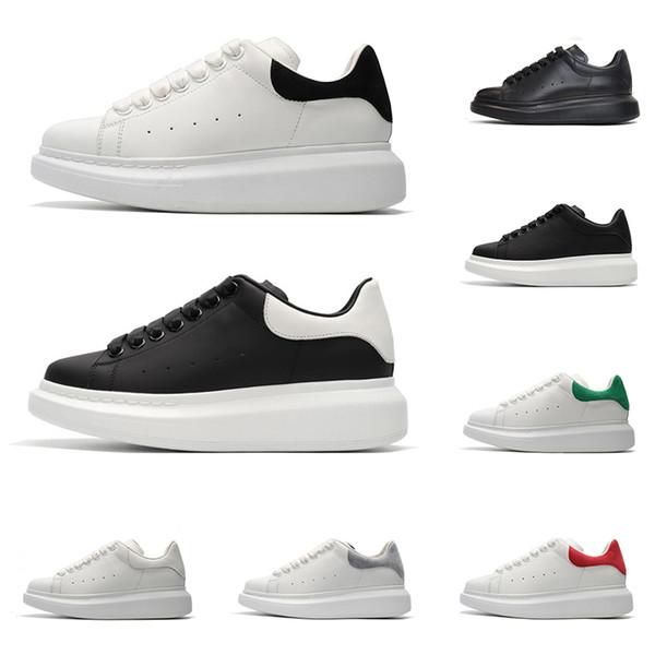 Новые дизайнерские туфли для мужчин женщин моды платформы кроссовок тройной черной белой красной серой кожи замша мужских удобные плоские случайные обуви