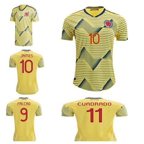 World Cup 2020 Colombia.2019 World Cup Colombia 2019 America Home Soccer Jersey James Rodriguez Falcao Columbia 2020 Football Shirt Cuadrado Valderrama Maillot De Foot From