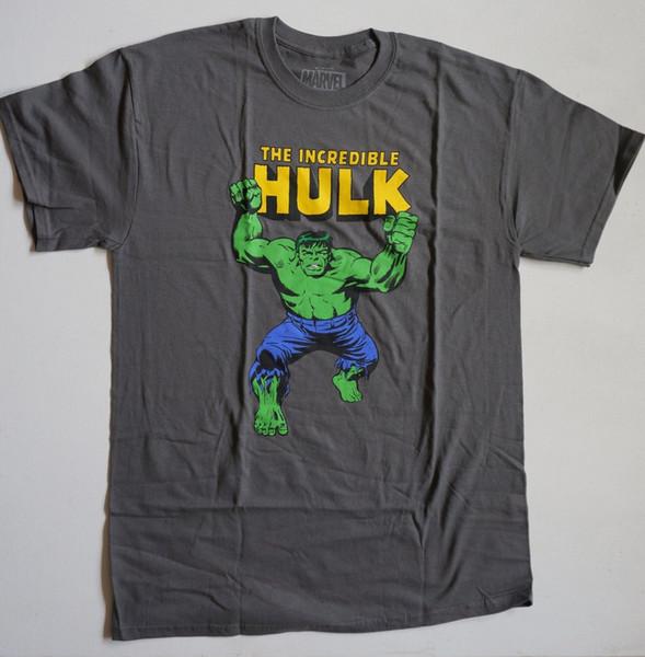 Bestaunen Sie das unglaubliche Hulk Shirt Grey S - 3XL Superheld Green NWOT H lustiges Geschenk Kurz, Kurzarm T-Shirt,