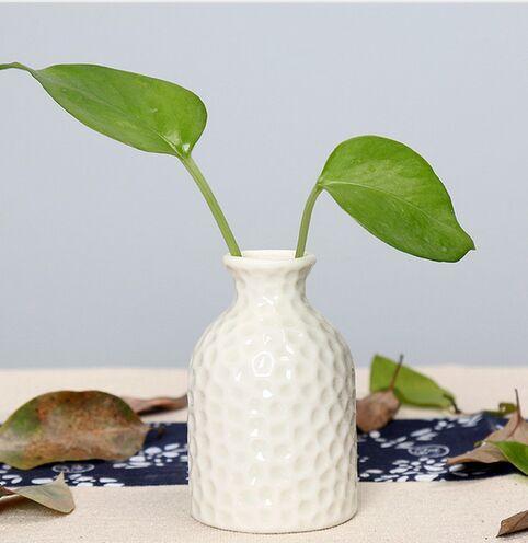 Europe Profile Brief Matt Vase En Porcelaine À La Mode En Céramique Diamant Fleur En Céramique Vase Salle Étude Couloir Maison Mariage