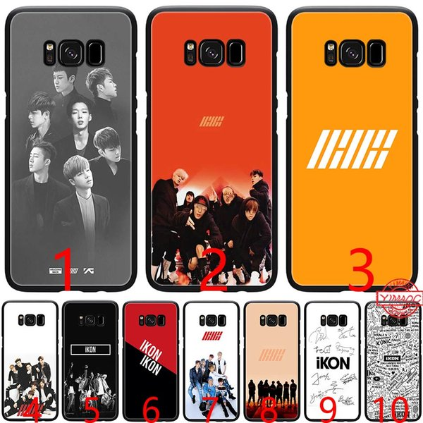 music ikon kpop Soft Silicone Black TPU Phone Case for Samsung A3 A5 2016 2017 A6 Plus 2018 Cover