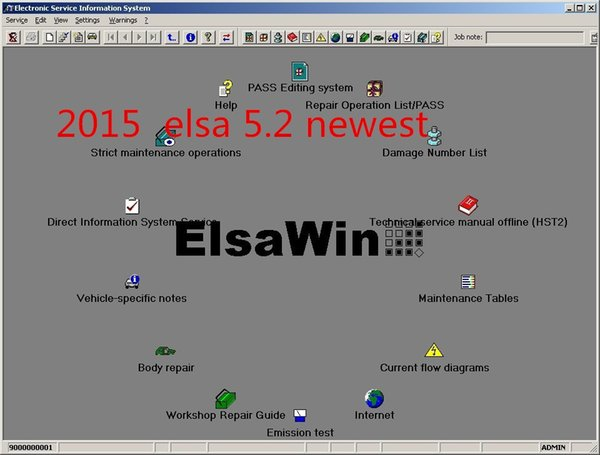 For Audi/VW/SKODA-SEAT ELSAWIN 5.2 auto data auto repair software Free Shipping