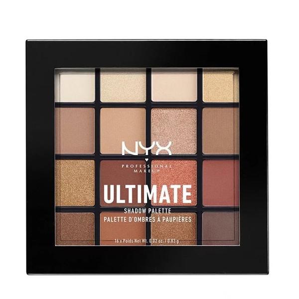 NYX Cosmetics ULTIMATE 16 цветов Матовый блеск Shimmer Палитра теней Фонд Make Up Eye Shadow палитр Maquillage