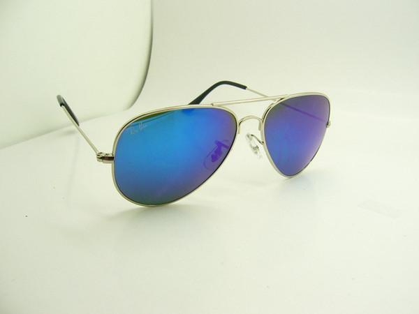 Silver frame blue lens