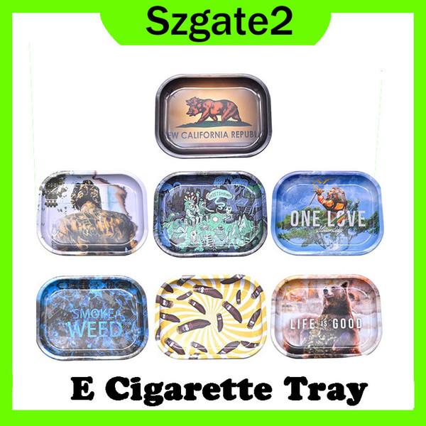 E Portasigarette Vassoio di rotolamento Portasigarette di metallo Vassoi di laminazione Tabacco disponibile Accessori per fumatori Spedizione gratuita 0266306